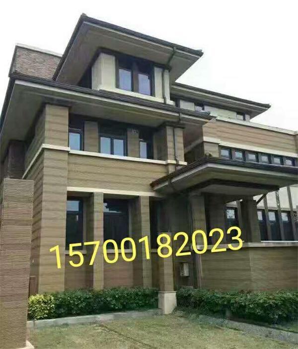 独一无二的天沟型材,以装饰性的檐口设计,与房屋建筑风格浑然一体.