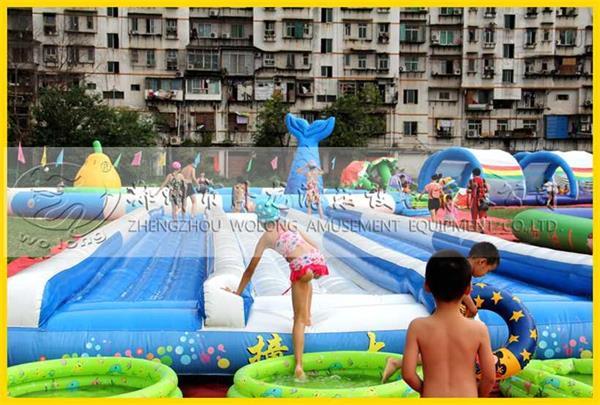 这个夏天不再热!卧龙支架游泳池中享清凉