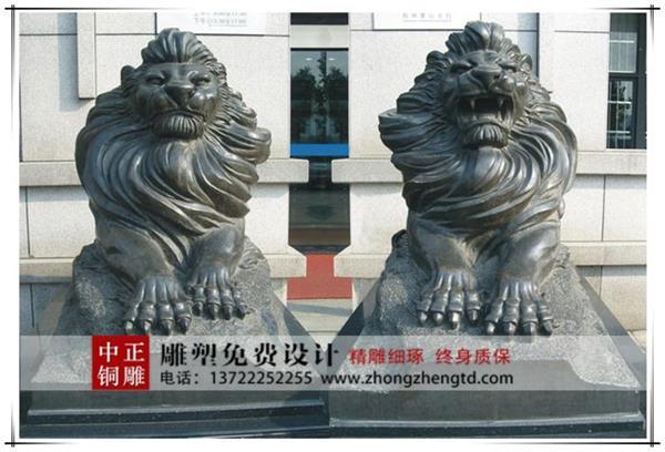 动物铜雕加工制作,大型铜狮子厂家,铜狮子哪家好