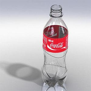 solidworks设计可乐瓶蓝海创意云渲染平台下载