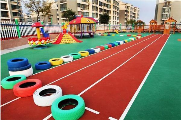 适合幼儿园场地的塑胶跑道