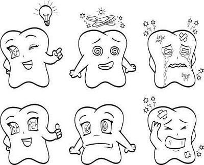 牙膏简笔画表情