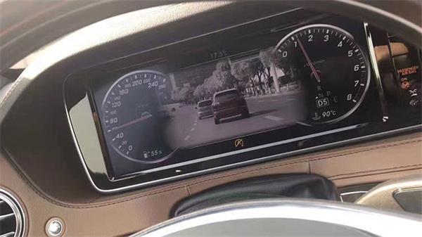 18款2018款奔驰S320L S350L S450L加改装23P夜视驾辅助系统旋转高音