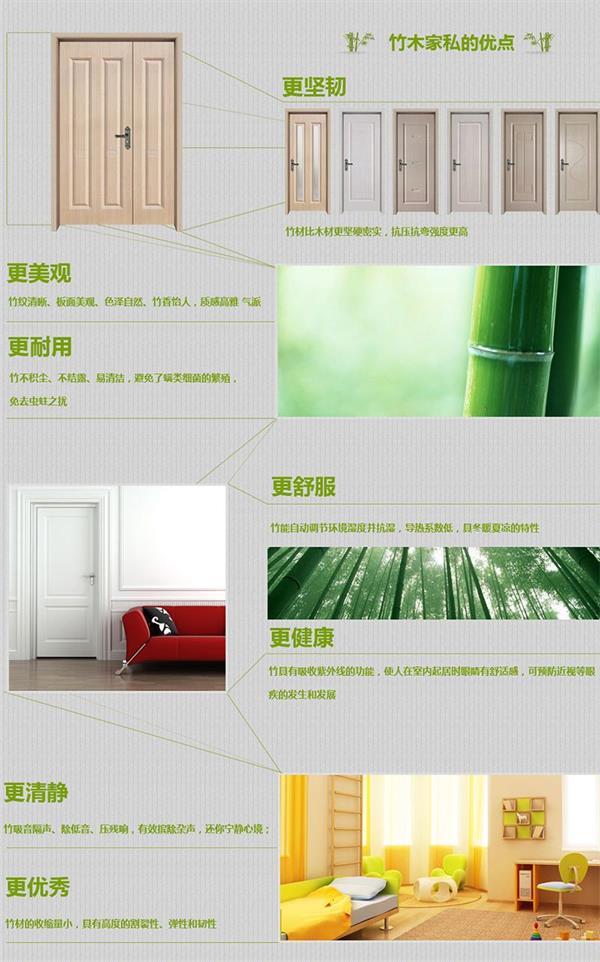 产销韩式竹木门,烤漆门,门板门配大理石UV板集成墙