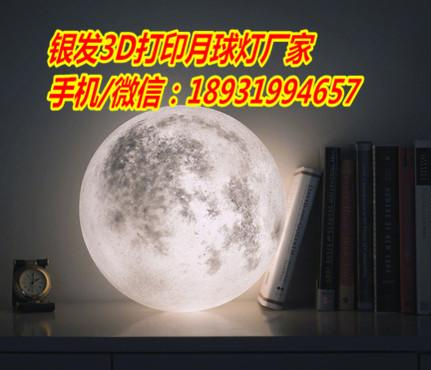 银发3D打印月球灯厂家