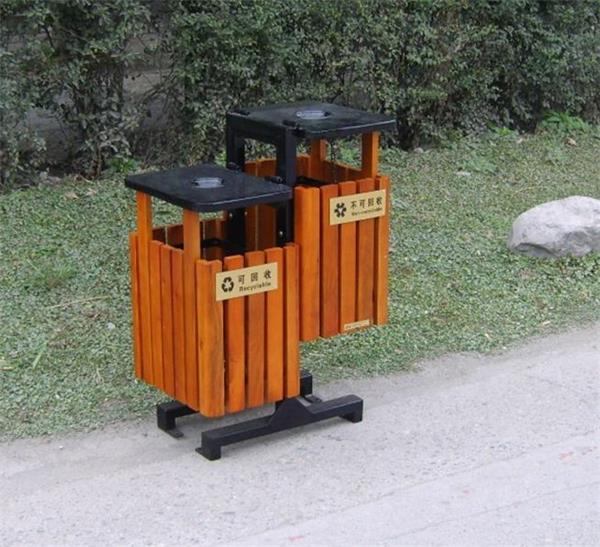 阳西户外烤漆公园垃圾桶 阳西带烟灰缸小区垃圾箱