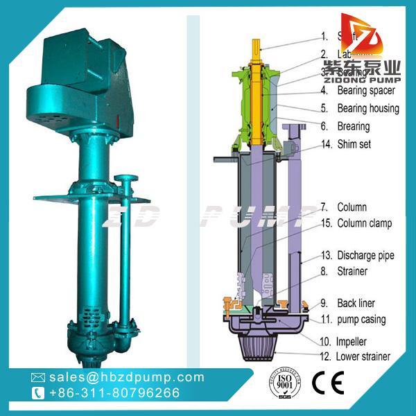 SP立式耐腐蚀液下渣浆泵 矿山排水泵