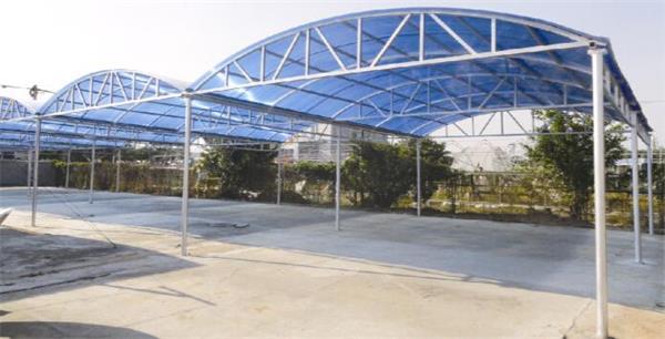 荔湾区膜结构停车棚定做安装丨越秀耐力板雨棚制作安装施工公司