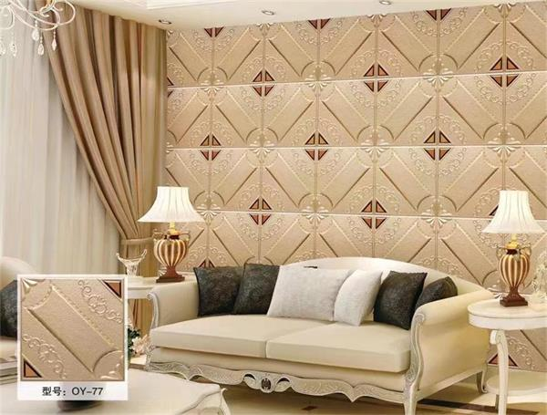仪锌定制床头软包背景墙欧式简约客厅卧室菱形沙发电视背景墙硬包