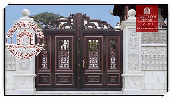 别墅大门效果图 自建房的大门 手足情深铝艺门