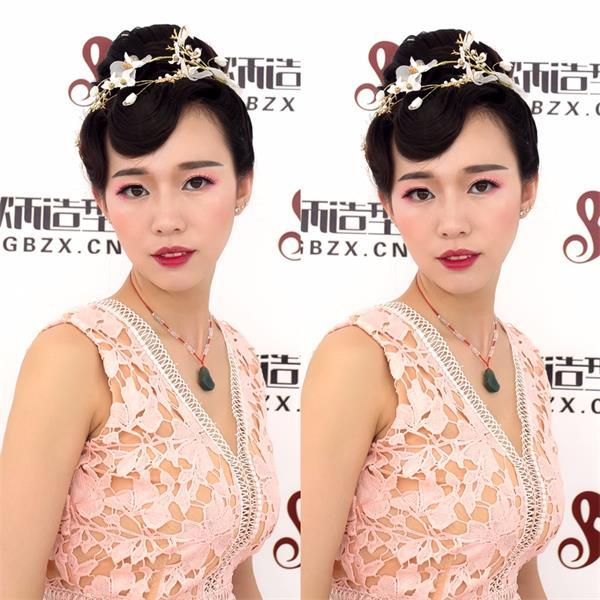韩式编发.中式秀和新娘盘发.手撕花新娘编发.日式扎发图片