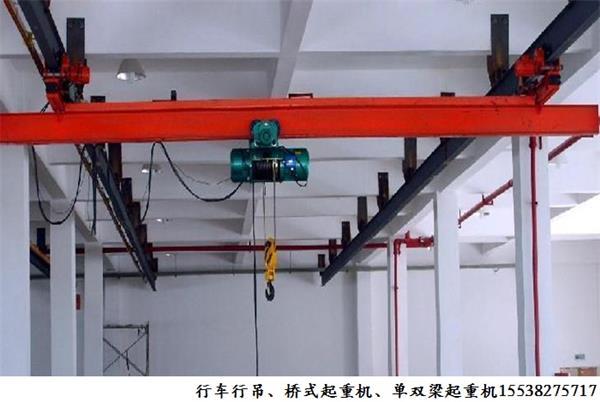 湖北荆门单梁起重机厂家悬挂梁式起重机图片