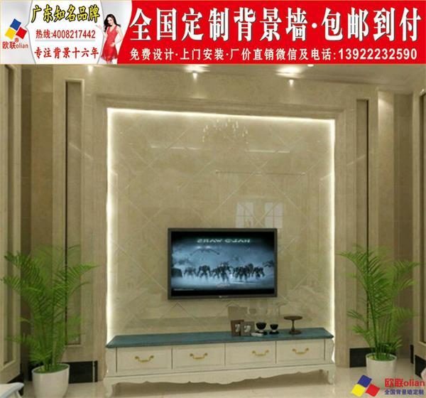 大理石瓷砖背景墙图片2018电视墙大气效果图新款大全y