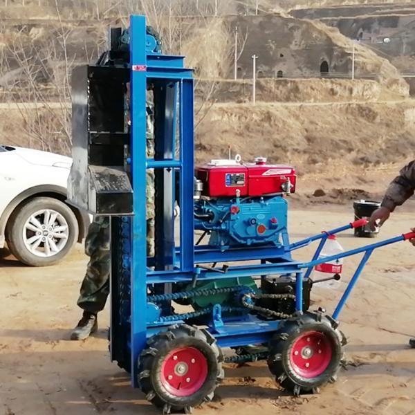 柴油鏈條自動行走砸夯機 農村地槽打夯機 2.2kw